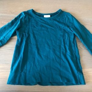 Teal colored long sleeve
